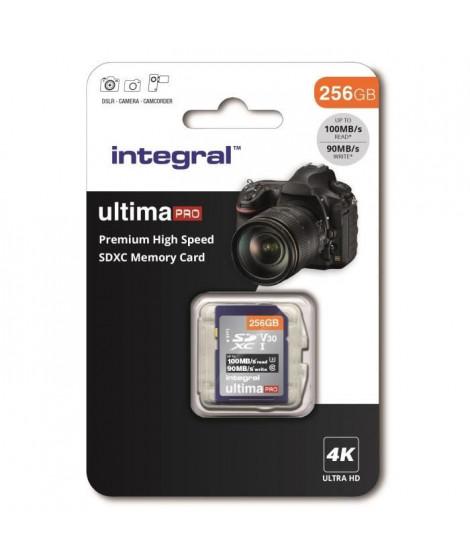 INTEGRAL MEMORY Premium High Speed SDHC/XC V30 UHS-I U3 Carte SDXC 256GB