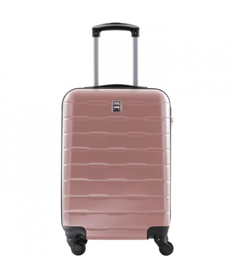 CITY BAG Valise Cabine ABS 4 Roues Rose