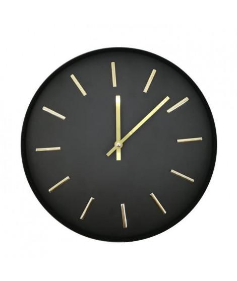 Horloge ORO - Métal - Noir et Doré - D30X3,5cm