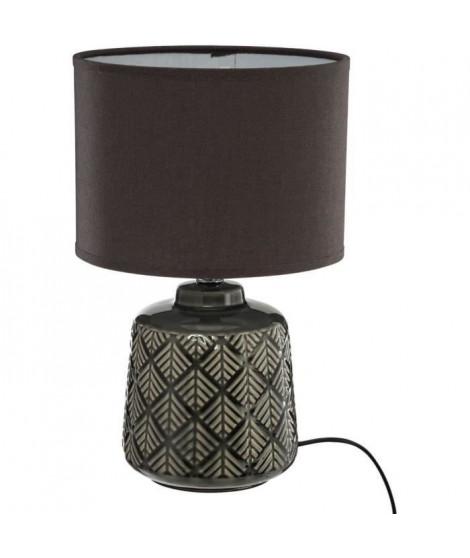 Lampe a poser - E14 - 60 W - H. 35 cm - Gris foncé