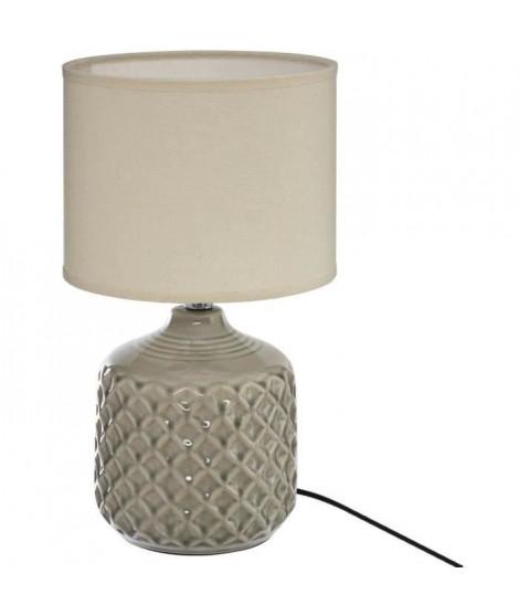 Lampe a poser - E14 - 60 W - H. 36,5 cm - Taupe