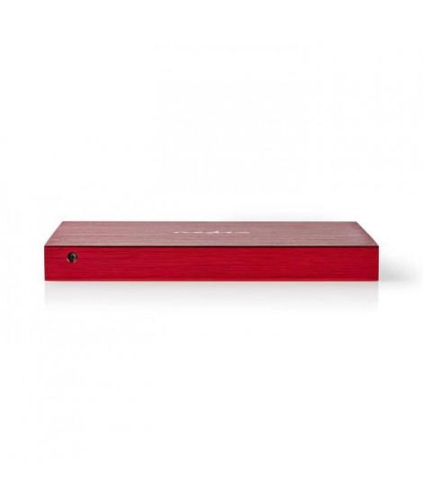 NEDIS Boîtier pour Disque dur - 2,5- Connexion SATA III - USB 3.1 - 6 Gbit/s - Rouge