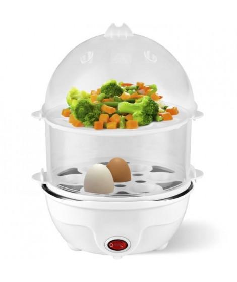 KALORIK TKGEK1001 Cuit-oeufs - 350 W - Capacité 14 oeufs - Signal sonore de fin de cuisson - Blanc et transparent