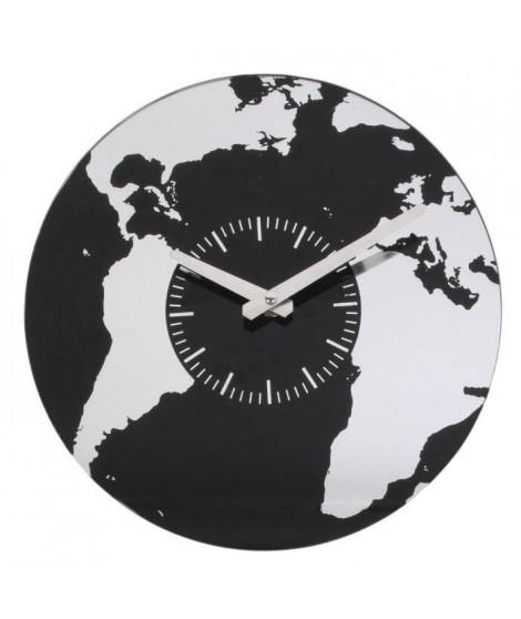 HOME DECO Factory Horloge verre Mappemonde M6 HO2920