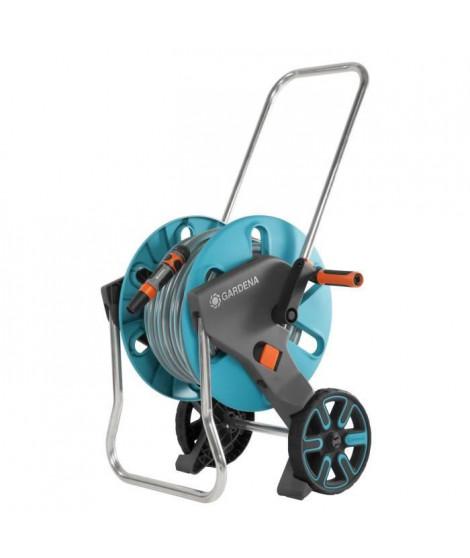 GARDENA Dévidoir sur roues équipé Aquaroll M - Tuyau 25m