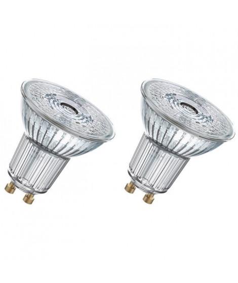 OSRAM Lot de 2 Ampoules Spots LED PAR16 GU10 4,3 W équivalent a 50 W blanc chaud