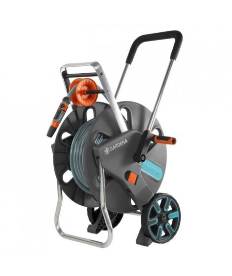 GARDENA Dévidoir sur roues équipé AquarollL Easy - Tuyau 30m