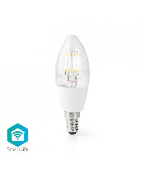 NEDIS Ampoule LED Intelligente Wi-Fi - E14 - C37 - 5 W - 400 lm - Blanc