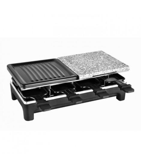 KALORIK TKG RAC 1016 Raclette pour 8 personnes Température variable 1500W Plaque de cuisson 1/2 pierre et 1/2 grille