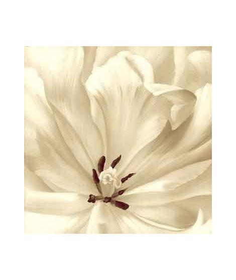 Tableau déco toile imprimée avec ajout peinture 90x90 cm blanc et rose