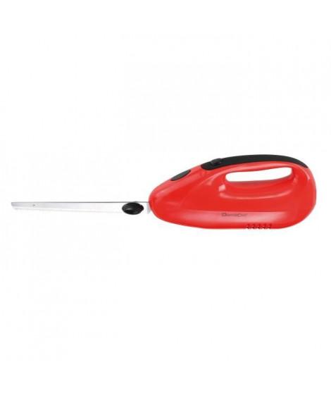 DOMOCLIP DOM360R Couteau électrique – 150W – 2 jeux de lames de 20 cm - Rouge