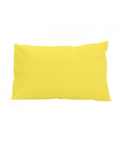SOLEIL d'OCRE Lot de 2 Taies d'oreiller 100% Coton 50x75 cm Jaune