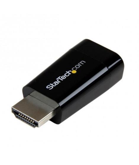 STARTECH.COM Adaptateur Compact HDMI vers VGA - Idéal pour Chromebook, Ultrabook et PC portable - 1920 x 1280 / 1080p