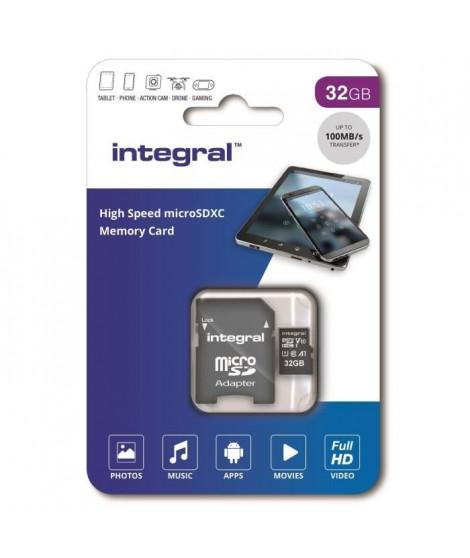 INTEGRAL MEMORY Micro SDXC 32GB Haute Vitesse 100MB/s de vitesse de transfert