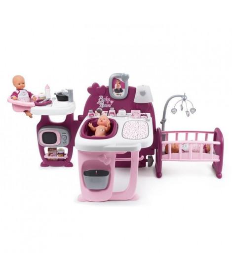 SMOBY Baby Nurse Grande Maison des Bébés - 3 Espaces de Jeux - 23 Accessoires