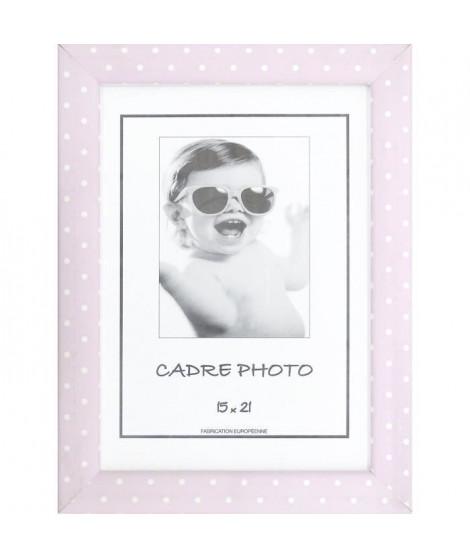 KID Cadre photo a pois 15x21 cm rose et blanc