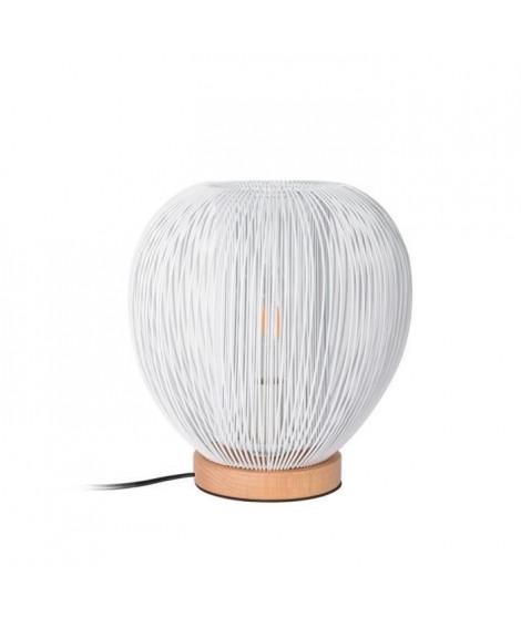 THE HOME DECO LIGHT Lampe a poser LA12050 boule filaire - Blanc M4