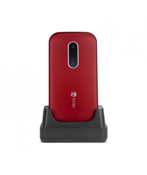 TÉLÉPHONE MOBILE DORO 6620 ROUGE
