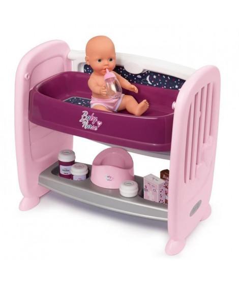 SMOBY Baby Nurse Co Dodo 2 en 1 - 14 Accessoires + Poupon Pipi
