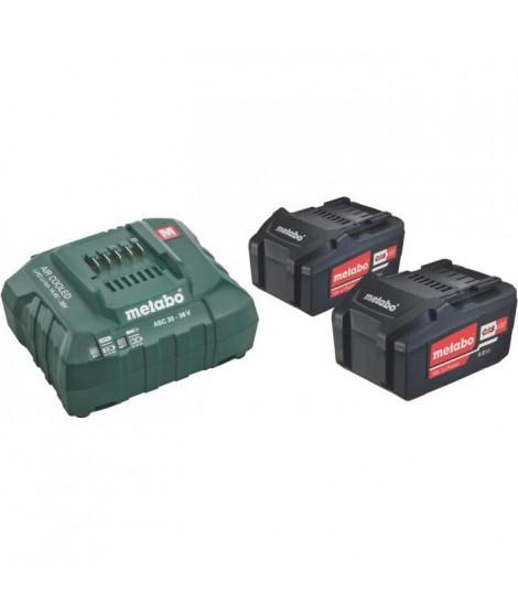 METABO Pack énergie 2 x 4.0 Ah + chargeur ASC 30-36