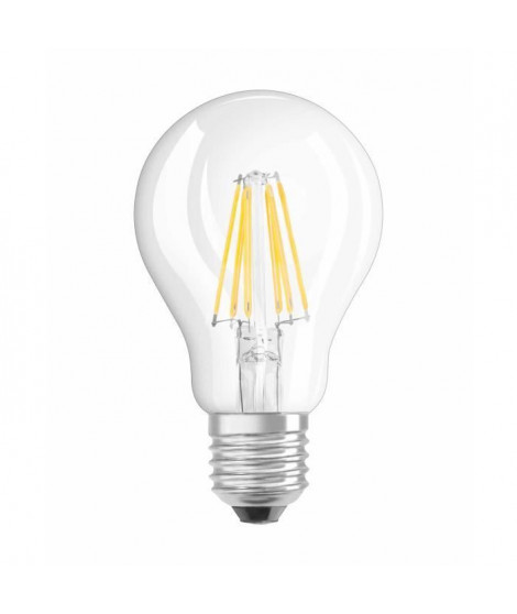 OSRAM-Ampoule LED filament standard E27 Ø6cm 2700K 7W  60W 806 Lumens Dimmable Osram