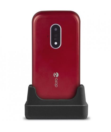 DORO Téléphone mobile 7030 - 4G LTE - microSD slot - GSM - 320 x 240 pixels - 3 MP - rouge