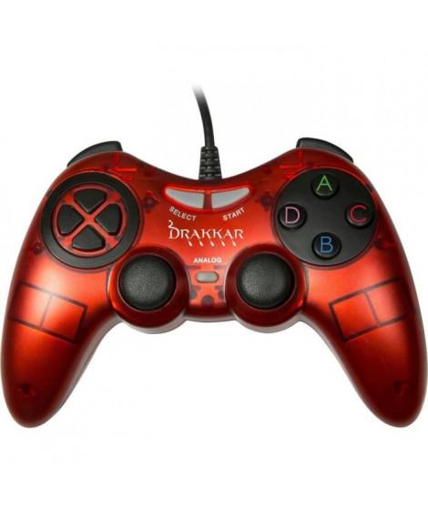Manette Konix Drakkar Blood Axe Rouge pour PC