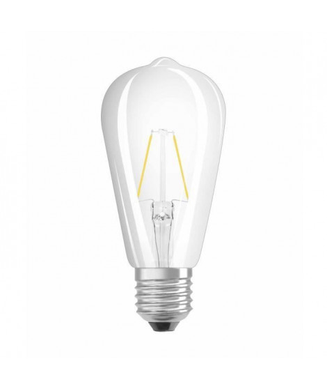 OSRAM Ampoule filament LED E27 2 W équivalent a 25 W blanc chaud