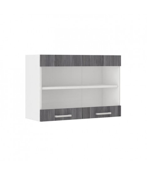 ULTRA Meuble haut de cuisine L 80 cm - Décor chene gris mat