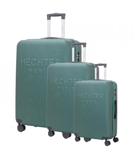 DANIEL HECHTER Set de 3 Valises Trolley DHVDEAUVILLE Rigide ABS - 8 Roues - Cadenas TSA - 50-60-70 cm - Vert