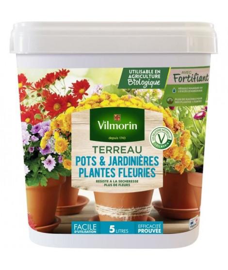VILMORIN Seau Terreau spécial pots et jardinieres plantes fleuries 5 L