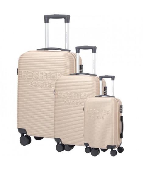 DANIEL HECHTER Set de 3 Valises Trolley DHVDEAUVILLE Rigide ABS - 8 Roues - Cadenas TSA - 50-60-70 cm - Champagne