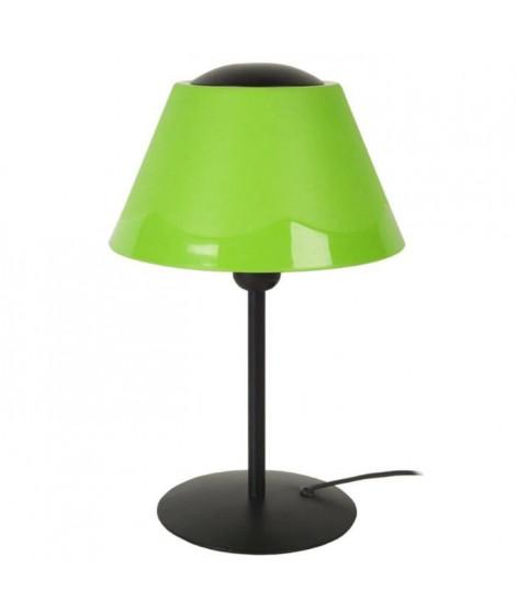 POLYCONE Lampe Tube, abat-jour. Polypropilene, hauteur 35 cm, noir et vert