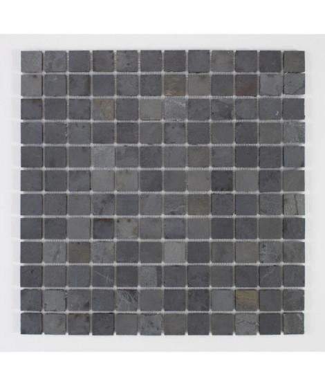 U-TILE Mosaique en pierre naturelle 100 x 50 cm - carreau 2,5 x 2,5 cm - mixte pierre de lave