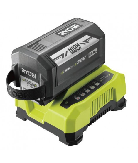 RYOBI Batterie 36V 6Ah Max Power™ High Energy + chargeur - RY36BC60A-160