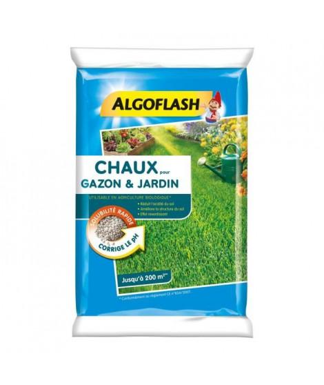 ALGOFLASH Chaux pour gazon et jardin - 10 kg