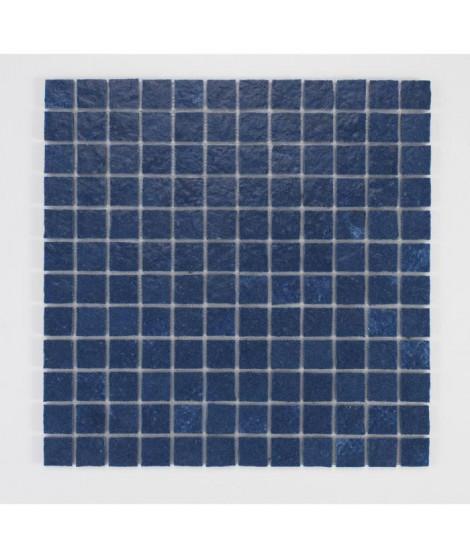 U-TILE Mosaique en resine imitation pierre 30 x 30 cm - carreau 2,5 x 2,5 cm - bleu nuit