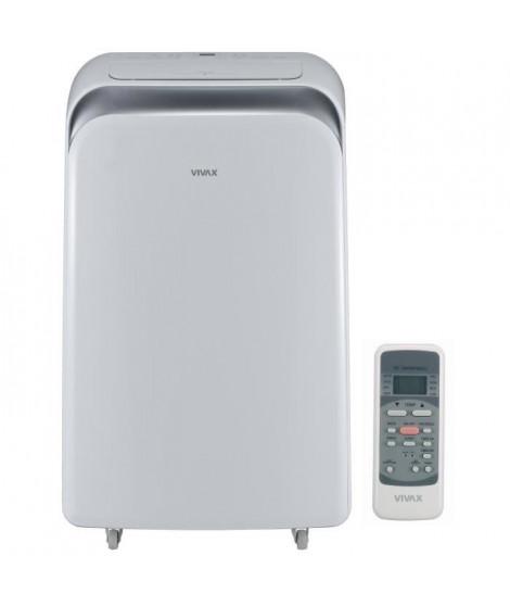 VIVAX ACP12PT35AEF Climatiseur mobile 3500 watts - 12000 Btu - Minuteur - Télécommande - Classe A - Débit : 370 m3/h