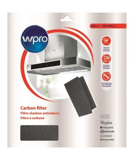 WPRO UCF016 Filtre universel a graisse et a charbon 2 en 1. Dim 470x570 mm. 450g/m2