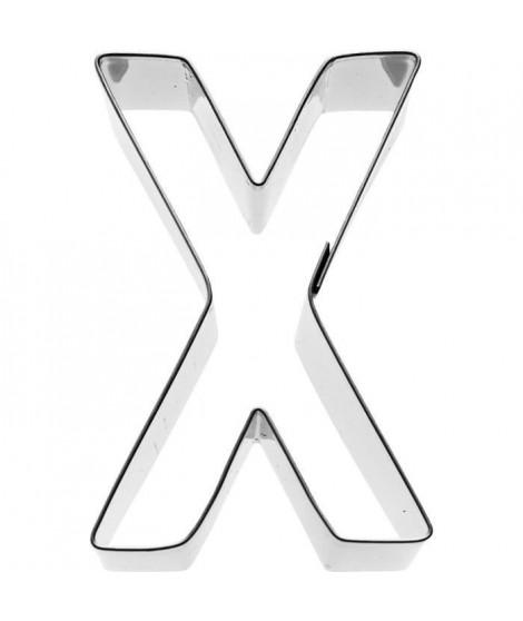 KARIS Emporte-piece Lettre X Birkmann T.1.9 - Inox - 6 cm - PG rouge