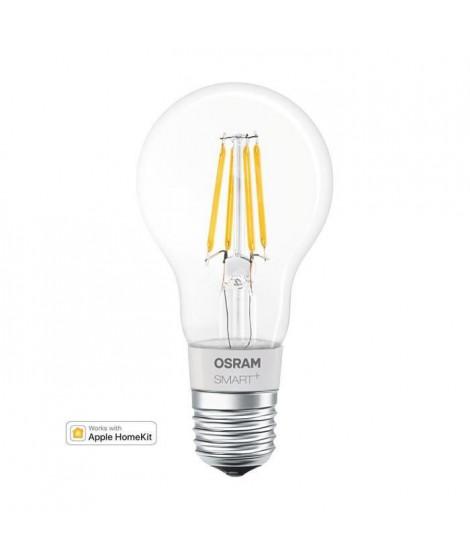 OSRAM Smart+ Ampoule LED a Filament Connectée - E27 Standard - Dimmable Blanc Chaud 5,5W (50W) - Compatible Bluetooth Apple H…