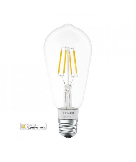 OSRAM Smart+ Ampoule LED a Filament Connectée - E27 Edison - Dimmable Blanc Chaud 5,5W (50W) - Compatible Bluetooth Apple Hom…