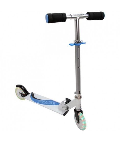 Funbee LED-Patinette 2 roues  bleue LED
