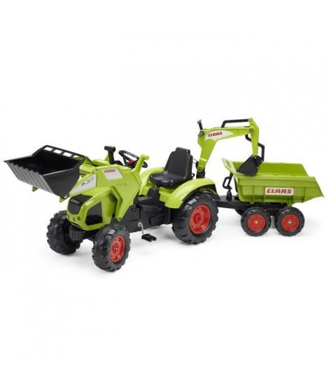 FALK Tracteur a pédales CLAAS Axos 330 avec remorque Maxi - 1010W