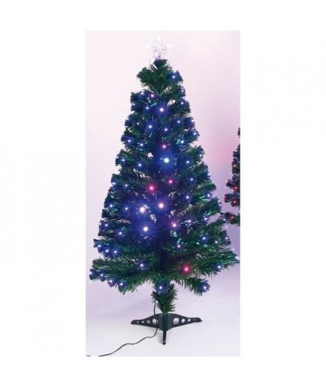 Sapin de Noël Caméléon - H 120 cm - Lumiere changeante rouge et bleu