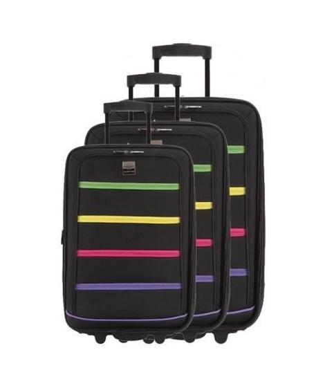 FRANCE BAG - Set de 3 valises xtensibles 2 roues polyester