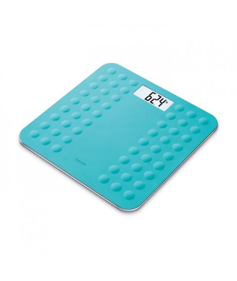 BEURER GS300 Pese-persone avec surface en silicone antiglisse - Turquoise