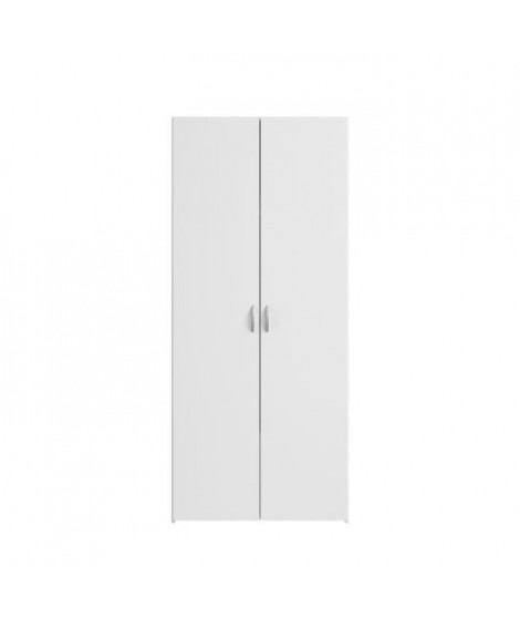 VARIA Armoire 2 portes décor blanc L81 cm