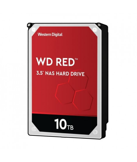 WD Red™ - Disque dur Interne NAS - 10To - 5 400 tr/min - 3.5 (WD100EFAX)