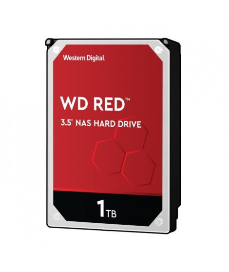 WD Red™ - Disque dur Interne NAS - 1To - 5 400 tr/min - 3.5 (WD10EFRX)